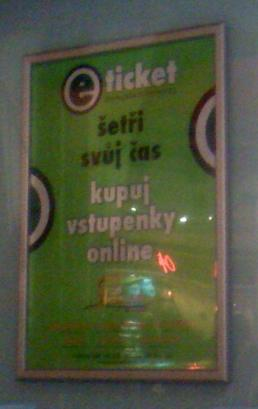 reklama na eTicket Palace Cinemas